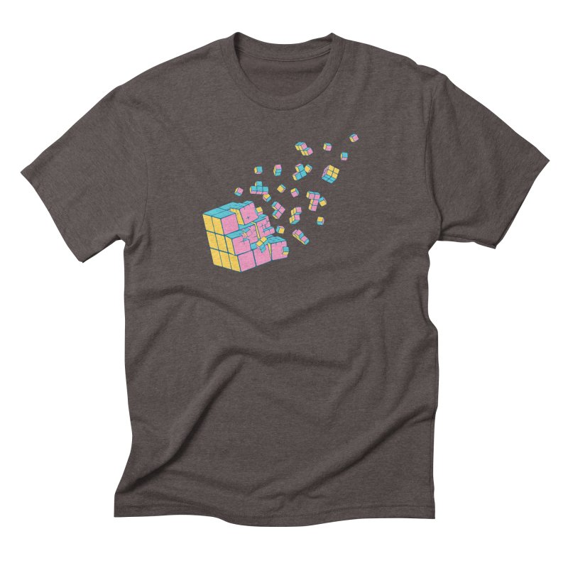 Rubixplosion III Men's Triblend T-Shirt by Cedric Lopez Fernandez