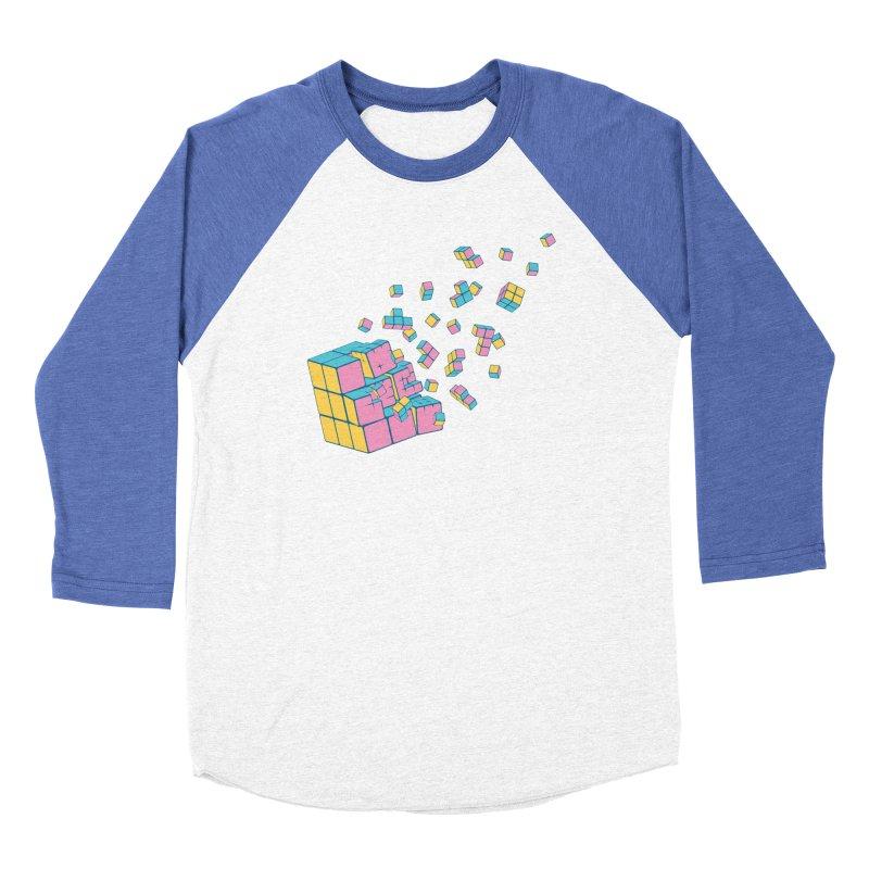 Rubixplosion III Women's Baseball Triblend Longsleeve T-Shirt by Cedric Lopez Fernandez