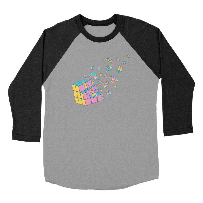 Rubixplosion III Women's Baseball Triblend T-Shirt by Cedric Lopez Fernandez
