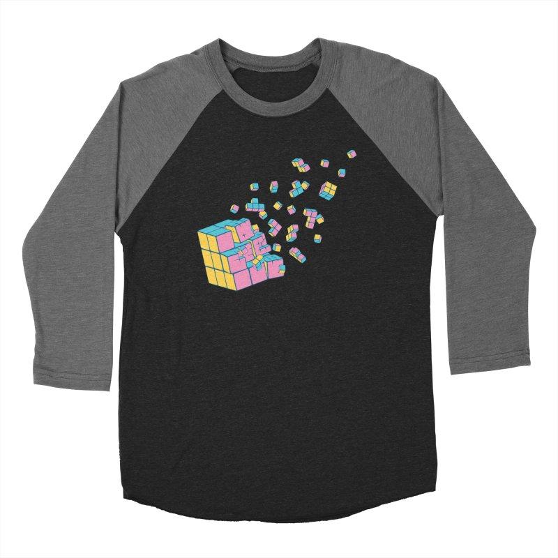 Rubixplosion III Men's Baseball Triblend Longsleeve T-Shirt by Cedric Lopez Fernandez