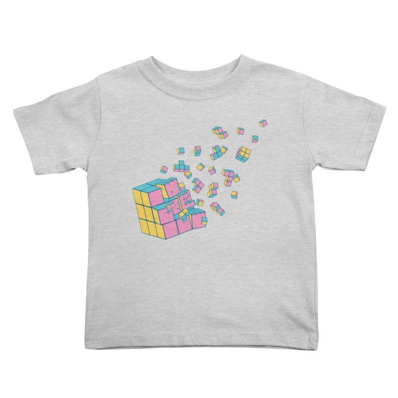 Rubixplosion III Kids Toddler T-Shirt by Cedric Lopez Fernandez