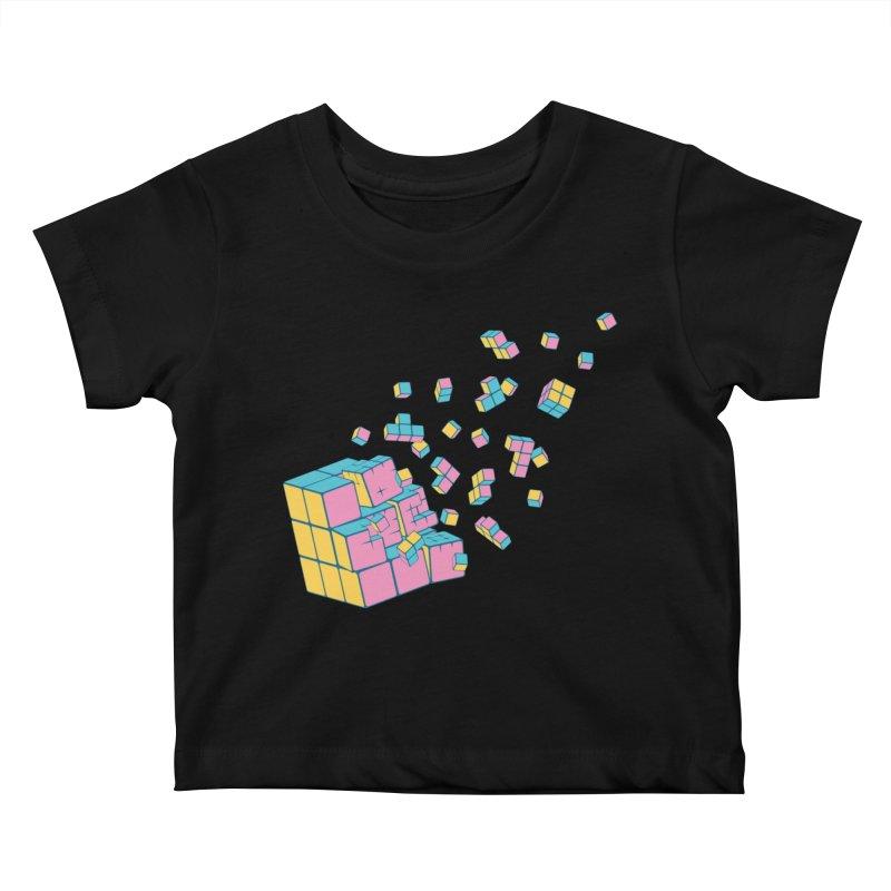 Rubixplosion III Kids Baby T-Shirt by Cedric Lopez Fernandez