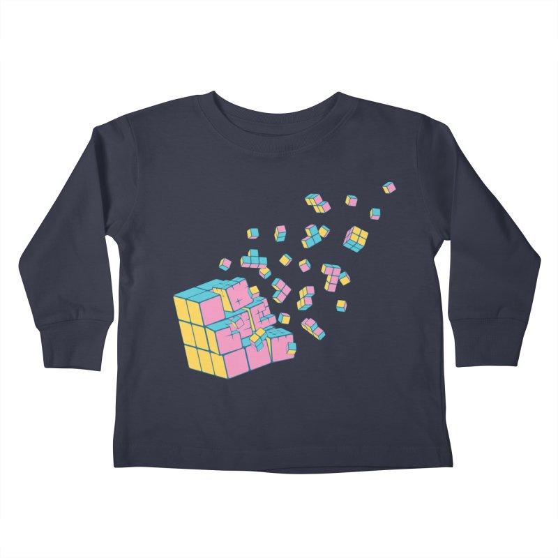 Rubixplosion III Kids Toddler Longsleeve T-Shirt by Cedric Lopez Fernandez