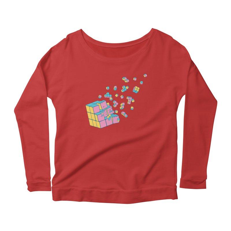 Rubixplosion III Women's Scoop Neck Longsleeve T-Shirt by Cedric Lopez Fernandez