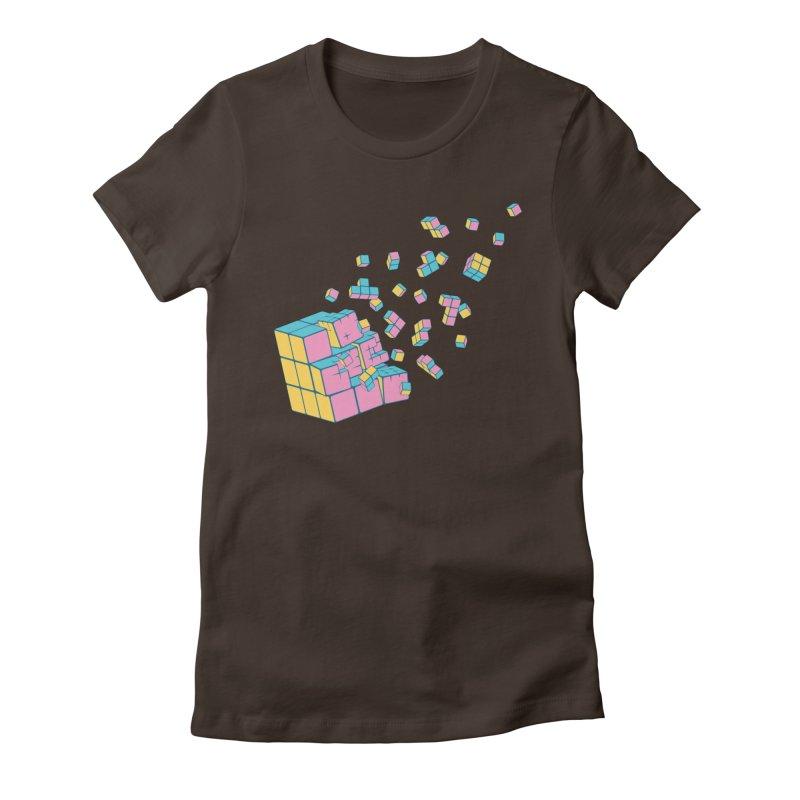 Rubixplosion III Women's Fitted T-Shirt by Cedric Lopez Fernandez