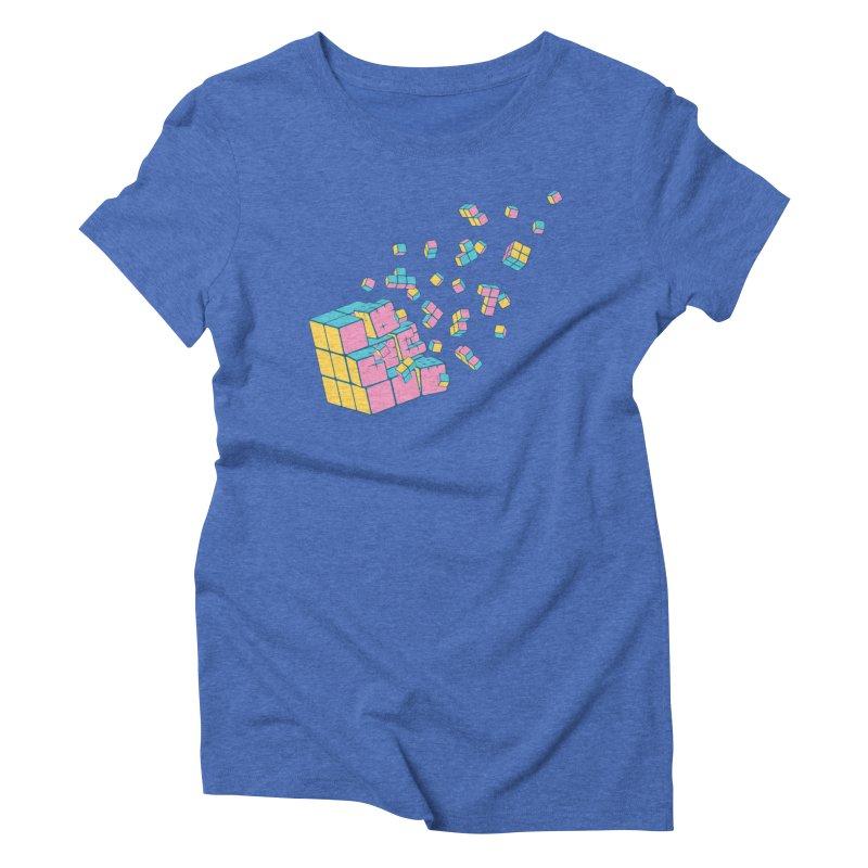 Rubixplosion III Women's Triblend T-Shirt by Cedric Lopez Fernandez