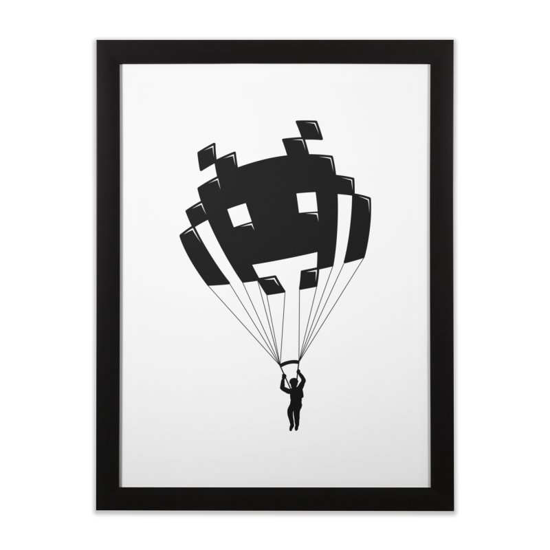 Invader Home Framed Fine Art Print by Cedric Lopez Fernandez