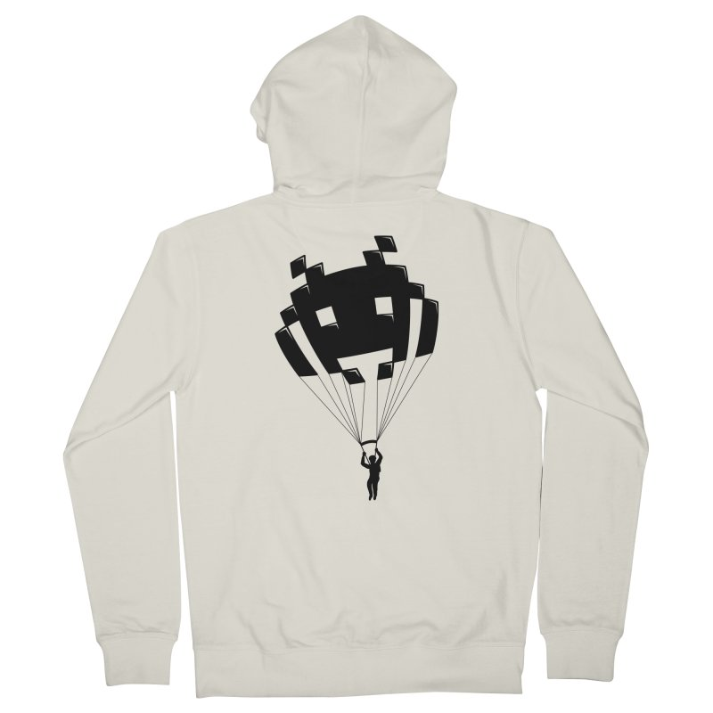 Invader Men's Zip-Up Hoody by Cedric Lopez Fernandez