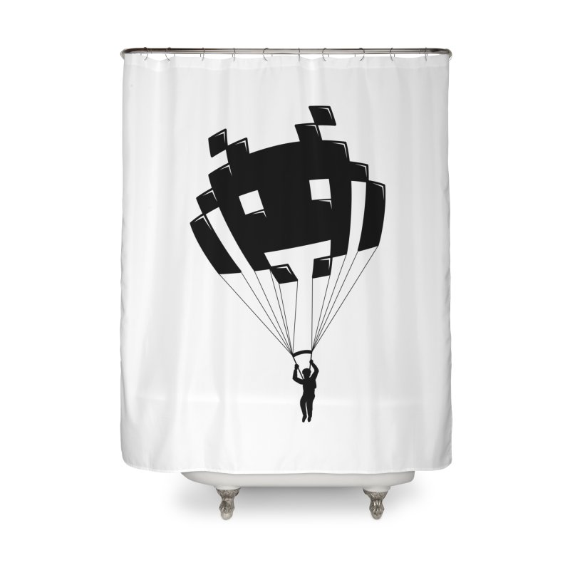 Invader Home Shower Curtain by Cedric Lopez Fernandez