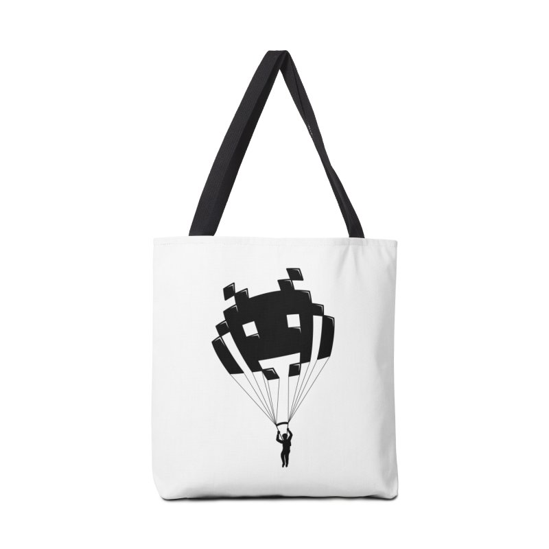 Invader Accessories Tote Bag Bag by Cedric Lopez Fernandez