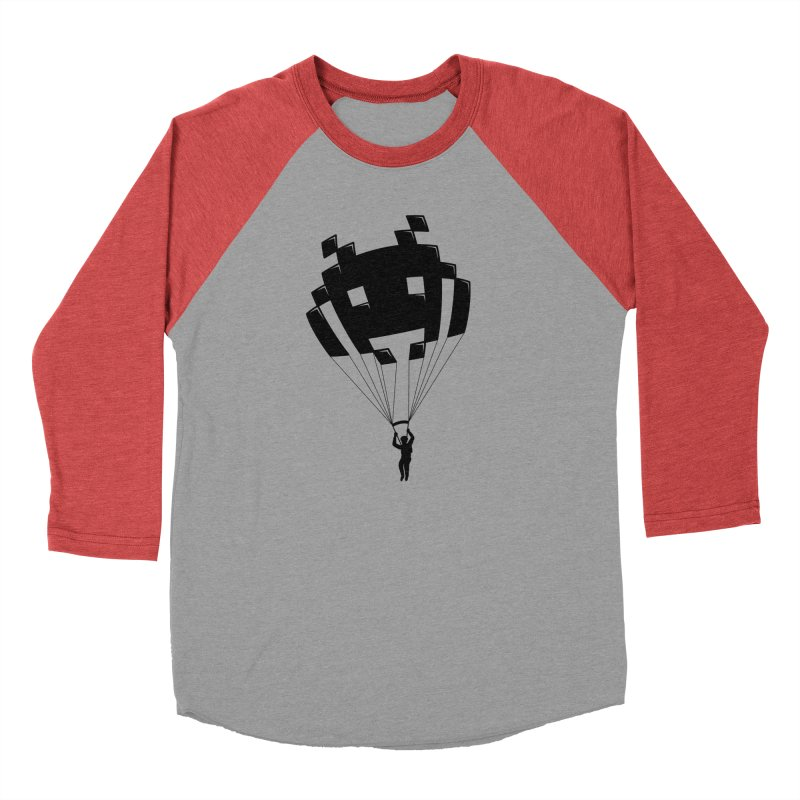 Invader Women's Baseball Triblend T-Shirt by Cedric Lopez Fernandez
