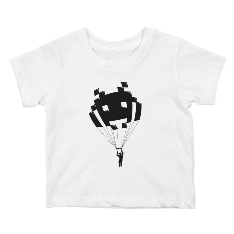 Invader Kids Baby T-Shirt by Cedric Lopez Fernandez