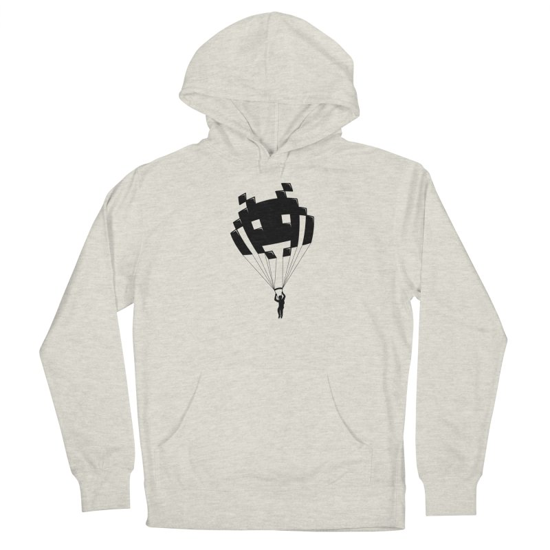 Invader Women's French Terry Pullover Hoody by Cedric Lopez Fernandez