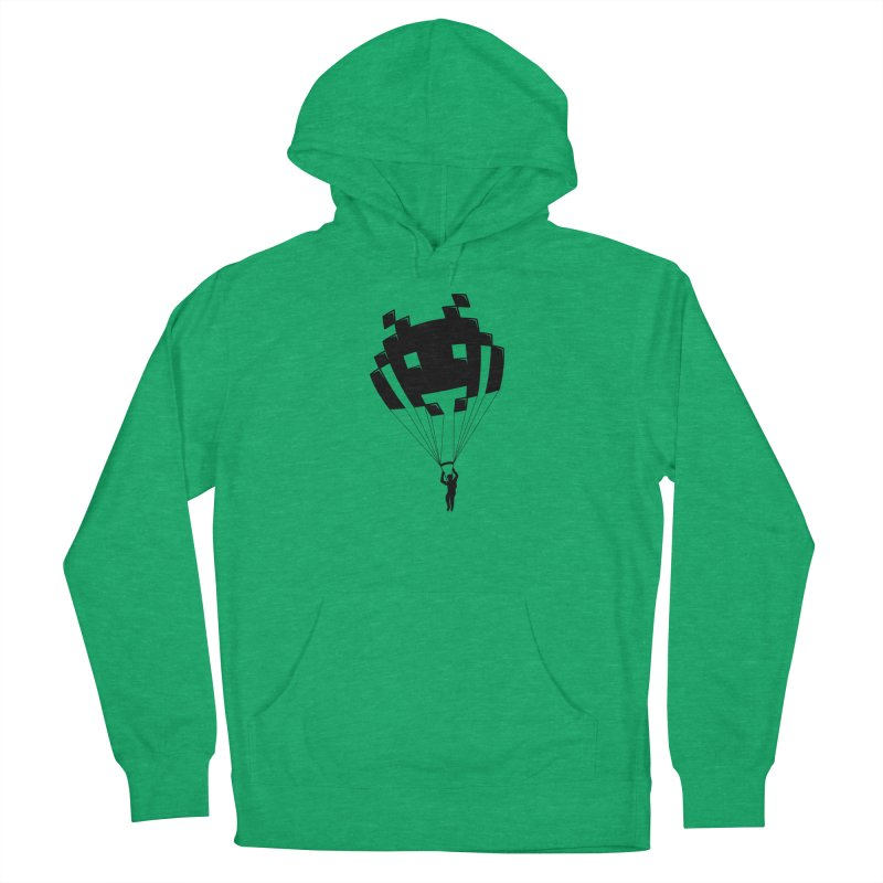 Invader Men's French Terry Pullover Hoody by Cedric Lopez Fernandez