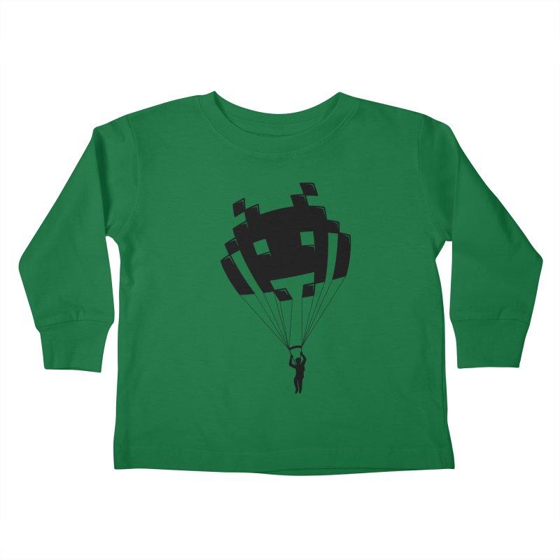 Invader Kids Toddler Longsleeve T-Shirt by Cedric Lopez Fernandez