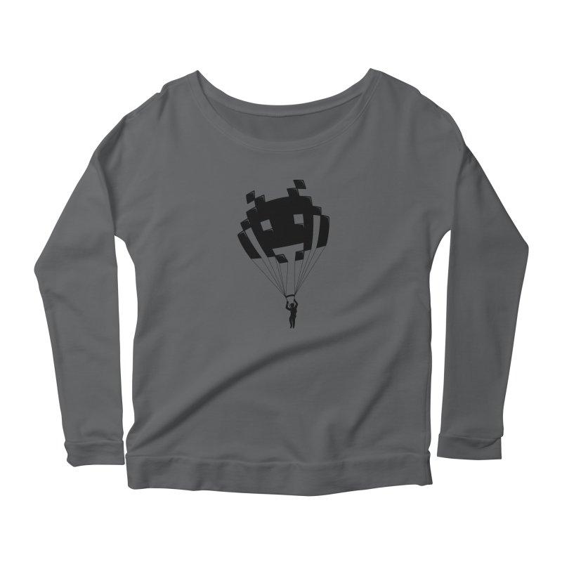 Invader Women's Scoop Neck Longsleeve T-Shirt by Cedric Lopez Fernandez