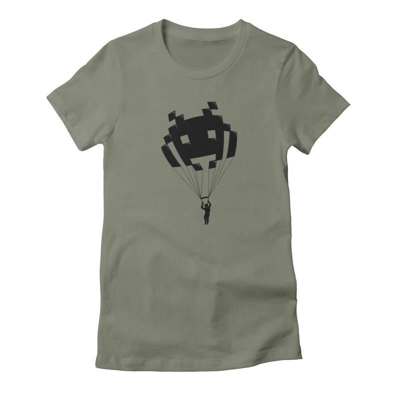 Invader Women's Fitted T-Shirt by Cedric Lopez Fernandez