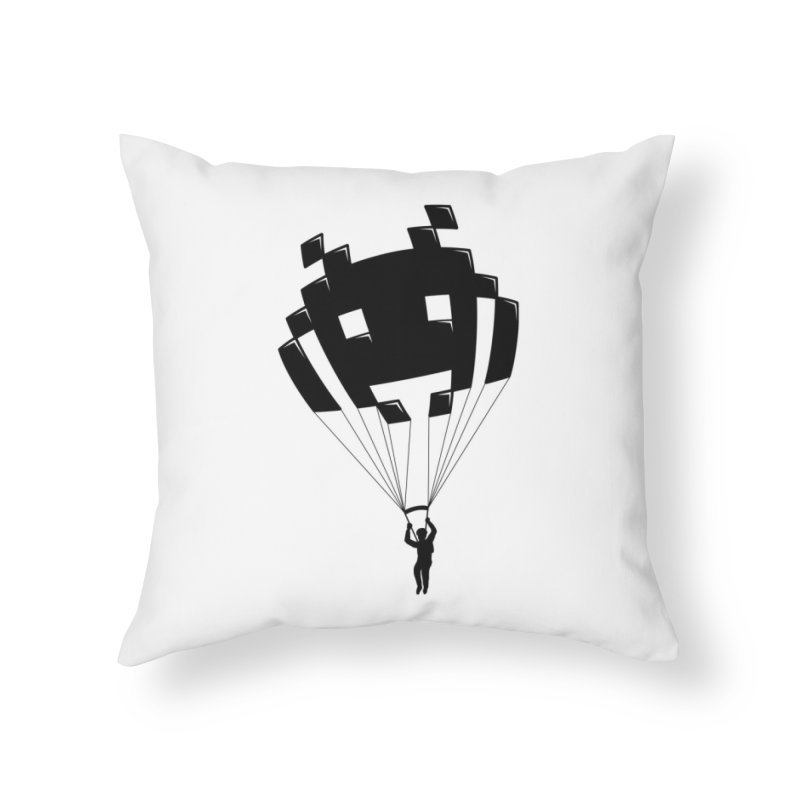 Invader Home Throw Pillow by Cedric Lopez Fernandez