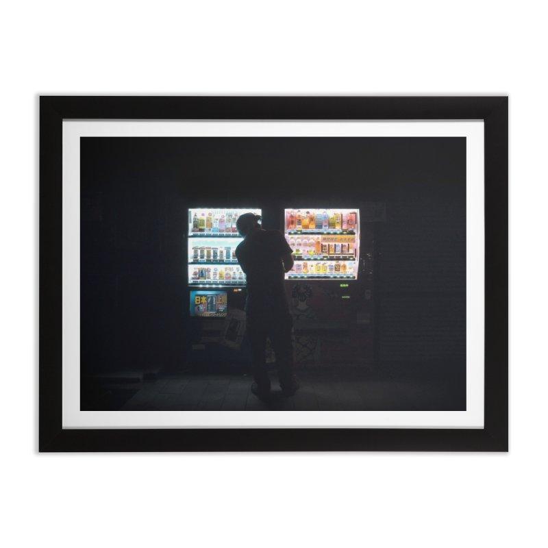 Vending Machine Home Framed Fine Art Print by Cedric Lopez Fernandez