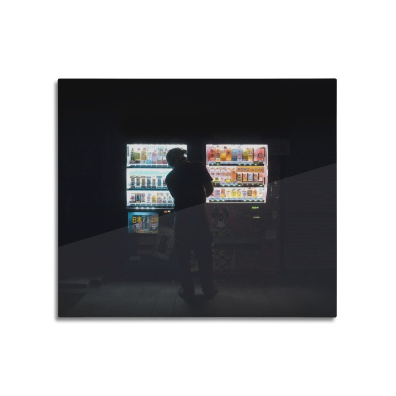 Vending Machine Home Mounted Aluminum Print by Cedric Lopez Fernandez