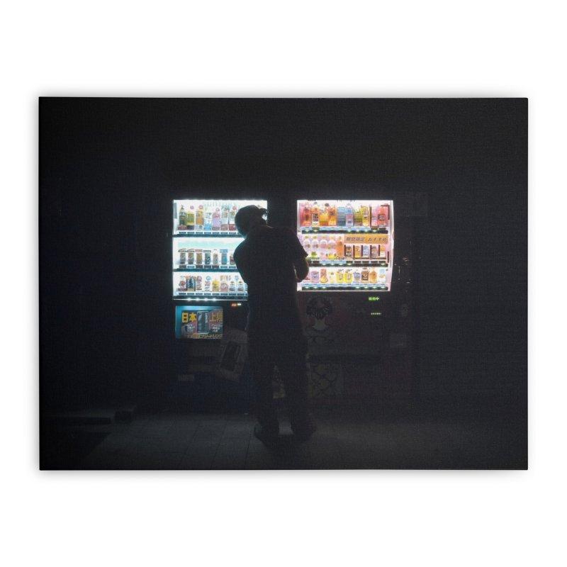 Vending Machine Home Stretched Canvas by Cedric Lopez Fernandez