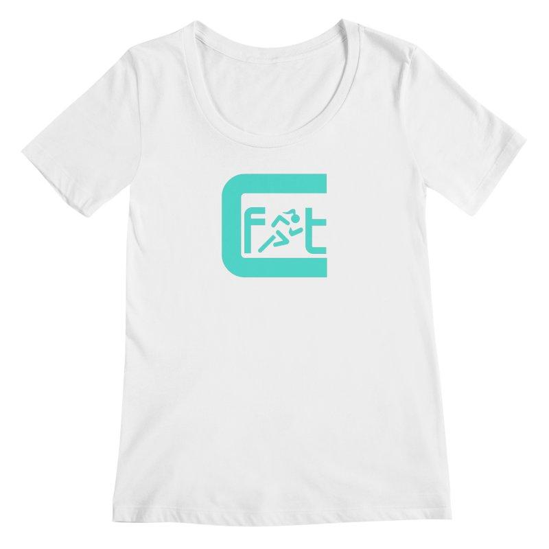 CelesteFit logo Women's Regular Scoop Neck by celestefit's Artist Shop