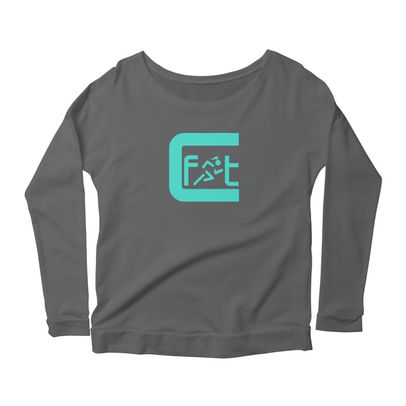 CelesteFit logo Women's Scoop Neck Longsleeve T-Shirt by celestefit's Artist Shop