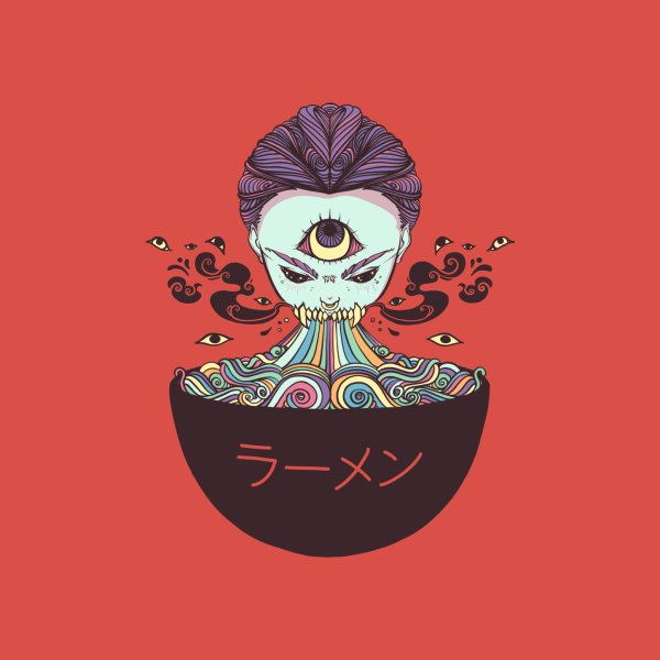image for Ramen Noodles Monster Anime Girl With Third Eye
