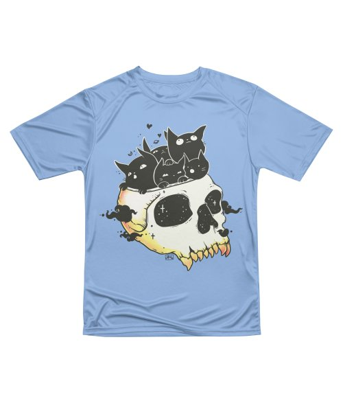 Skull Full Of Black Cat Kittens