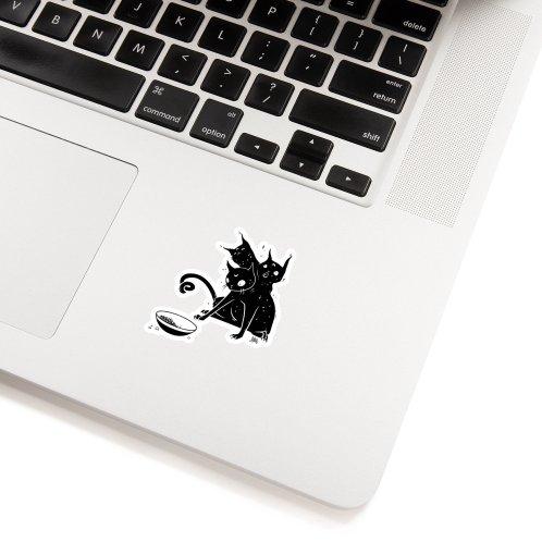 image for Creepy Cute Three Headed Black Cat Artwork