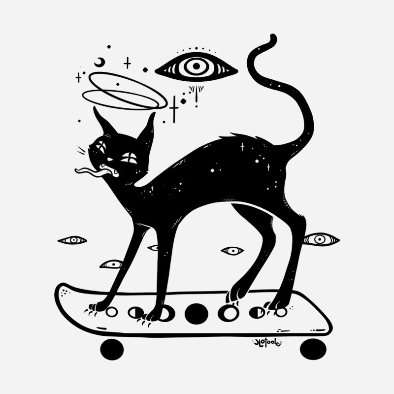 Cat On Skateboard Men's T-Shirt by CellsDividing's Artist Shop