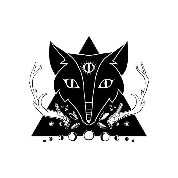 image for Fox Moon Phase & Third Eye Illustration