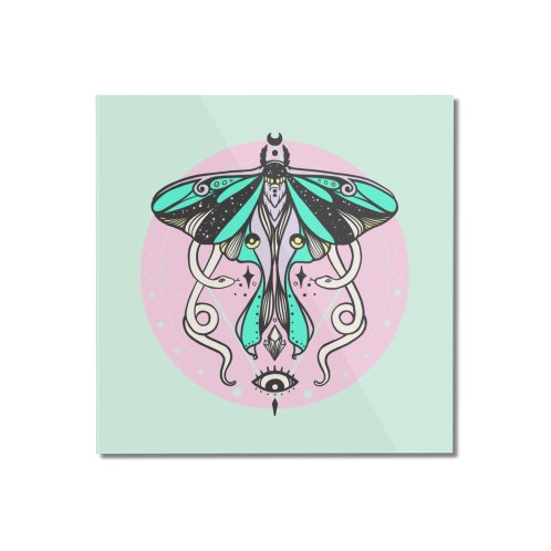 image for Luna Moth With Snakes Witchy Aesthetic Art