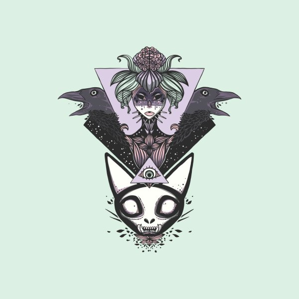 image for Witch, Crows, Cat Skull, And All Seeing Eye Of Providence