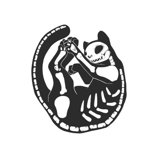 image for Skeleton Cat Bone Kitty Art