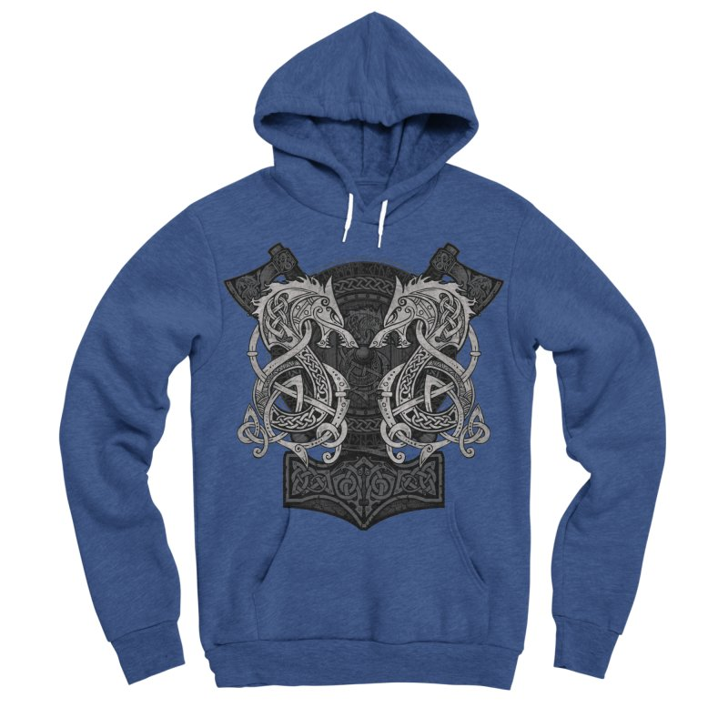 Fighting Fenrir Women's Sponge Fleece Pullover Hoody by Celtic Hammer Club