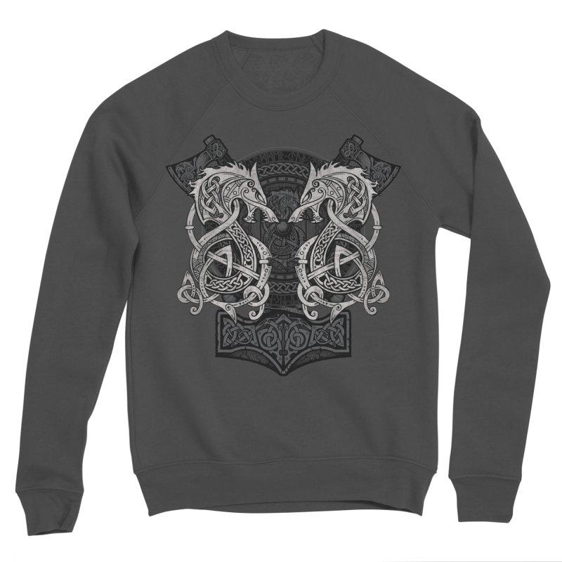 Fighting Fenrir Men's Sponge Fleece Sweatshirt by Celtic Hammer Club