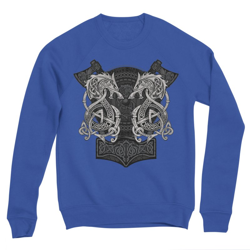 Fighting Fenrir Women's Sponge Fleece Sweatshirt by Celtic Hammer Club