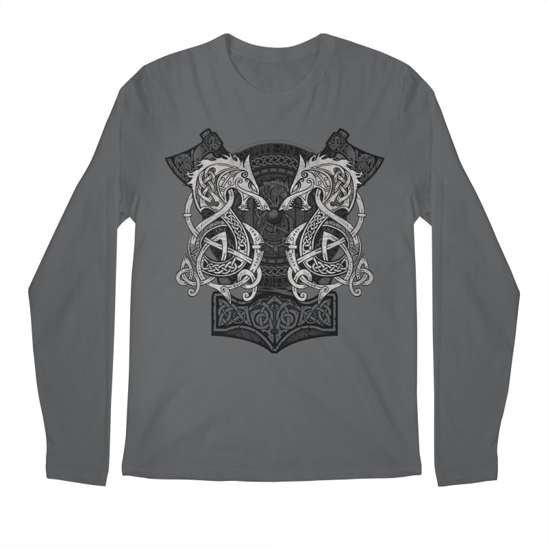 Fighting Fenrir Men's Longsleeve T-Shirt by Celtic Hammer Club