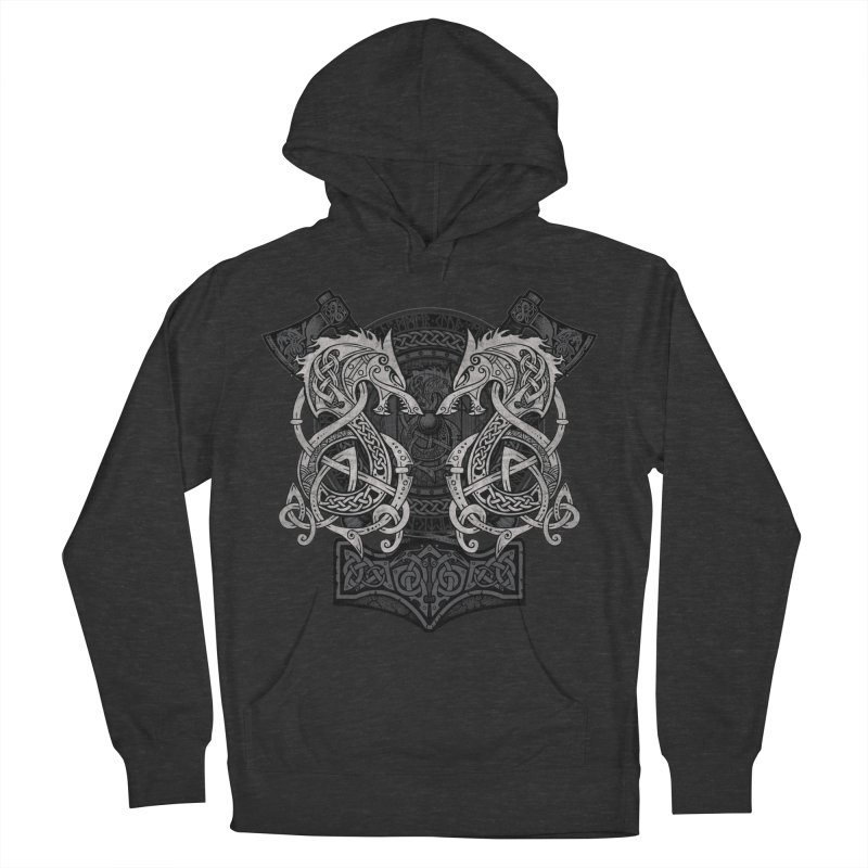 Fighting Fenrir Women's French Terry Pullover Hoody by Celtic Hammer Club