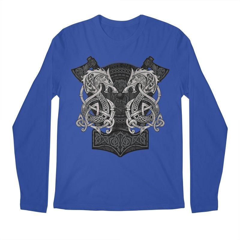 Fighting Fenrir Men's Regular Longsleeve T-Shirt by Celtic Hammer Club