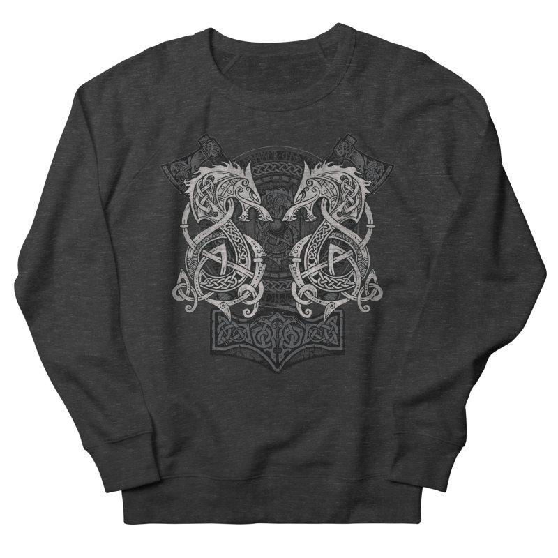 Fighting Fenrir Women's French Terry Sweatshirt by Celtic Hammer Club