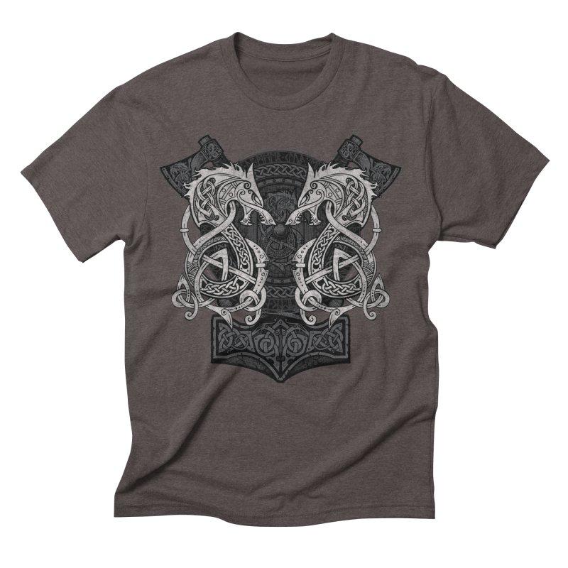 Fighting Fenrir Men's Triblend T-Shirt by Celtic Hammer Club