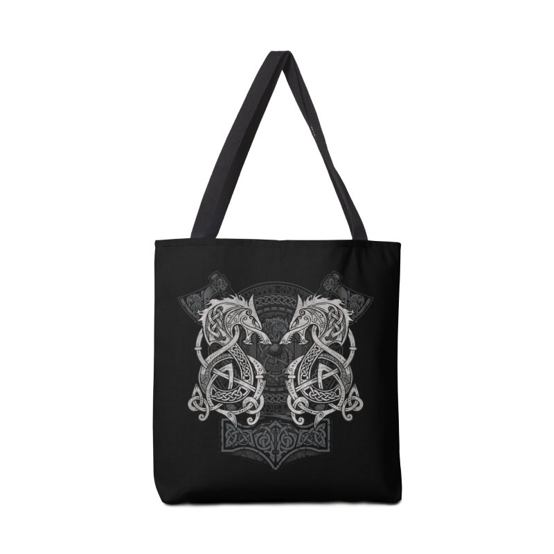 Fighting Fenrir Accessories Tote Bag Bag by Celtic Hammer Club