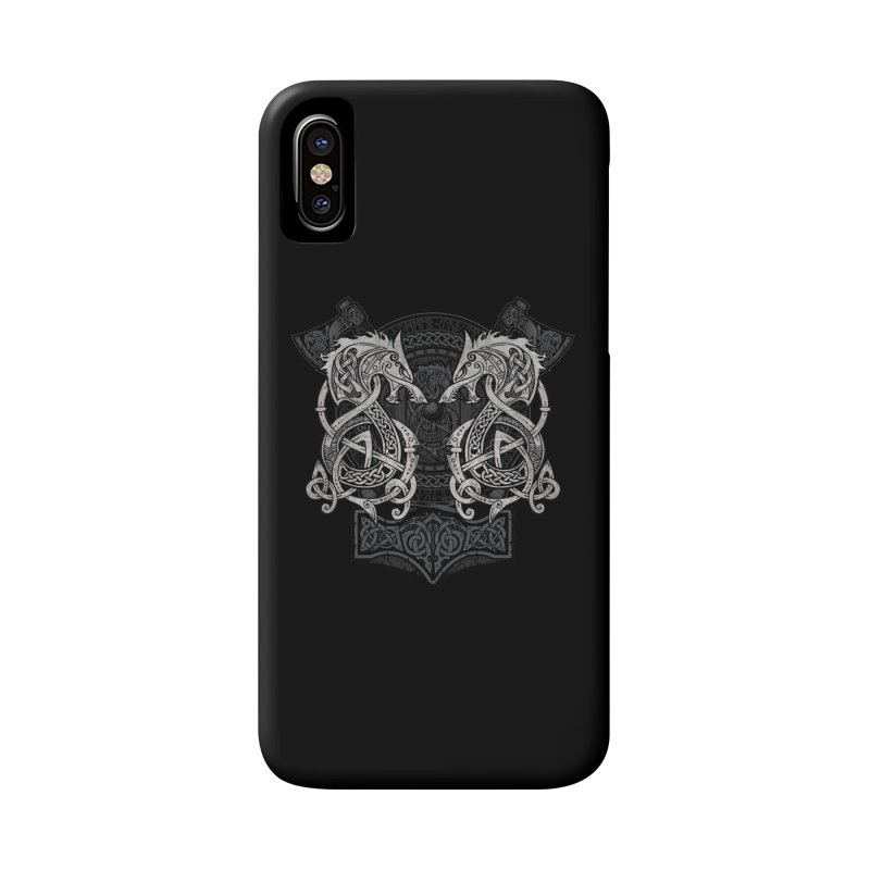 Fighting Fenrir Accessories Phone Case by Celtic Hammer Club