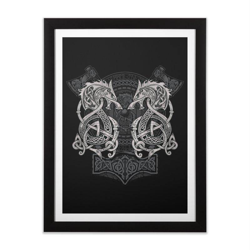 Fighting Fenrir Home Framed Fine Art Print by Celtic Hammer Club