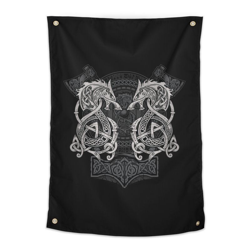 Fighting Fenrir Home Tapestry by Celtic Hammer Club
