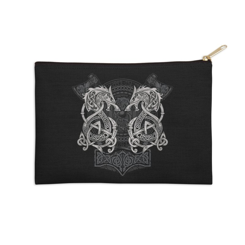 Fighting Fenrir Accessories Zip Pouch by Celtic Hammer Club