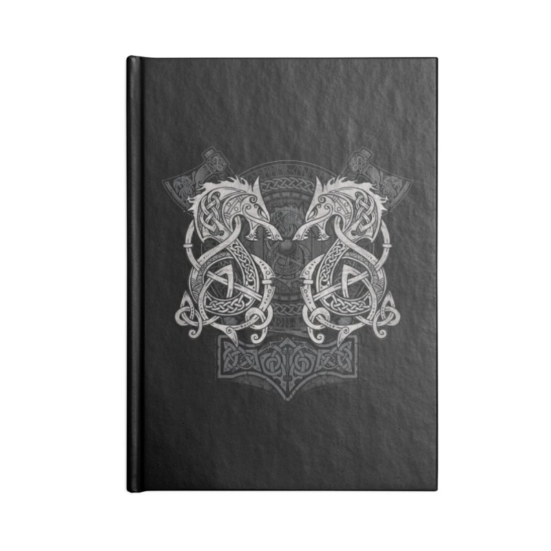 Fighting Fenrir Accessories Lined Journal Notebook by Celtic Hammer Club