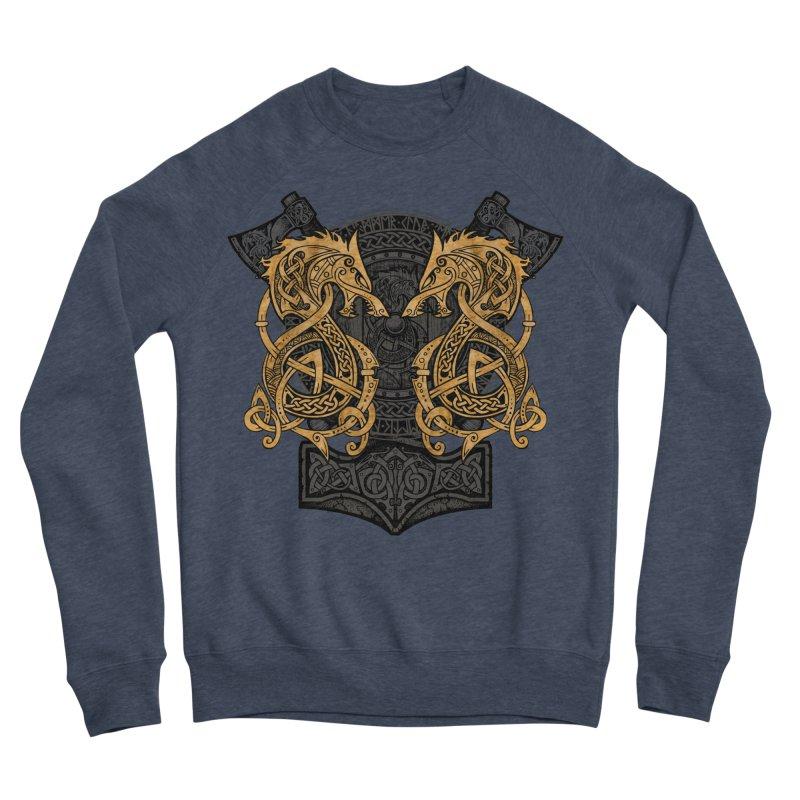 Fighting Fenrir Gold Women's Sponge Fleece Sweatshirt by Celtic Hammer Club